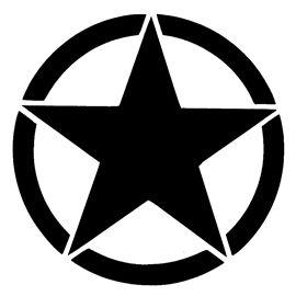Army Star Logo Stencil.