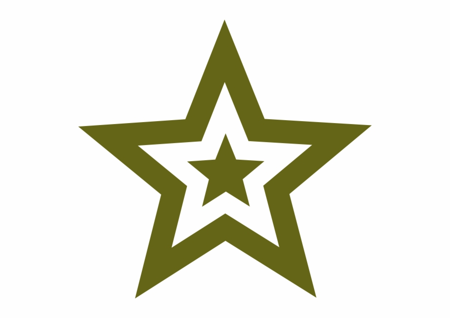 Star Military Green Army Png Logo Vector.