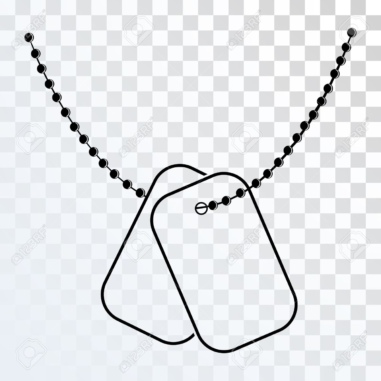 Military Dog Tag Silhouette.