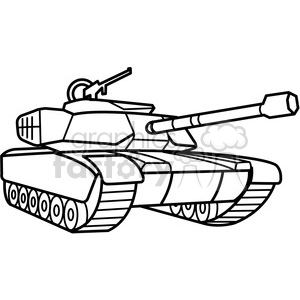 military tank outline clipart. Royalty.