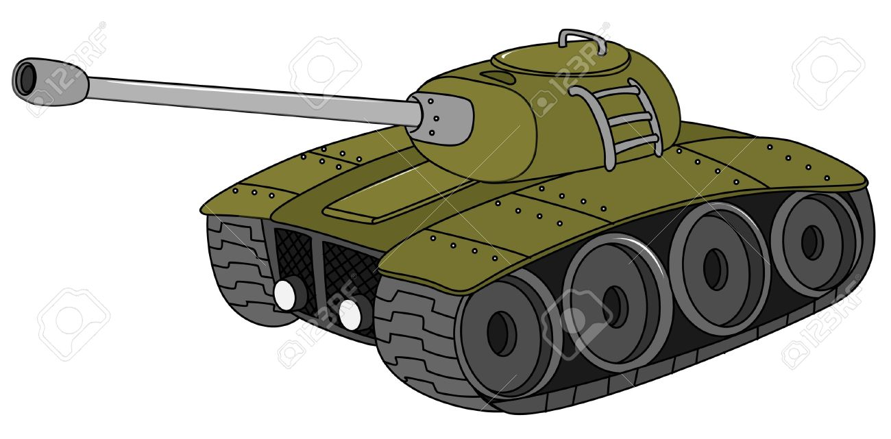 Illustration of a military tank.