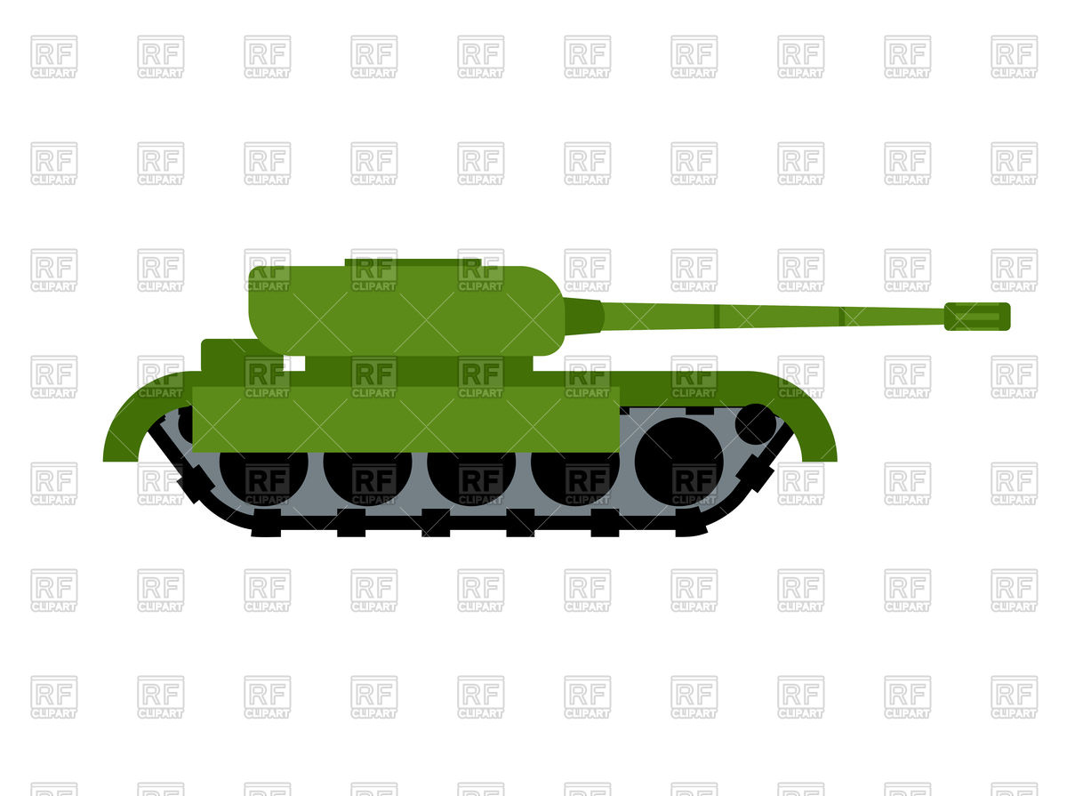 Military tank isolated Stock Vector Image.