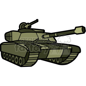 military tank clipart. Royalty.