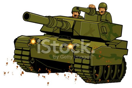 Army Tank Clipart Image.