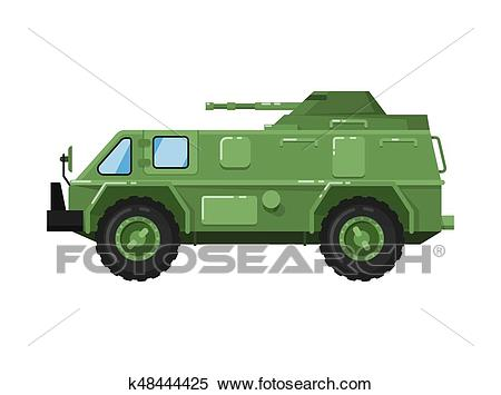 Modern army truck isolated icon Clipart.