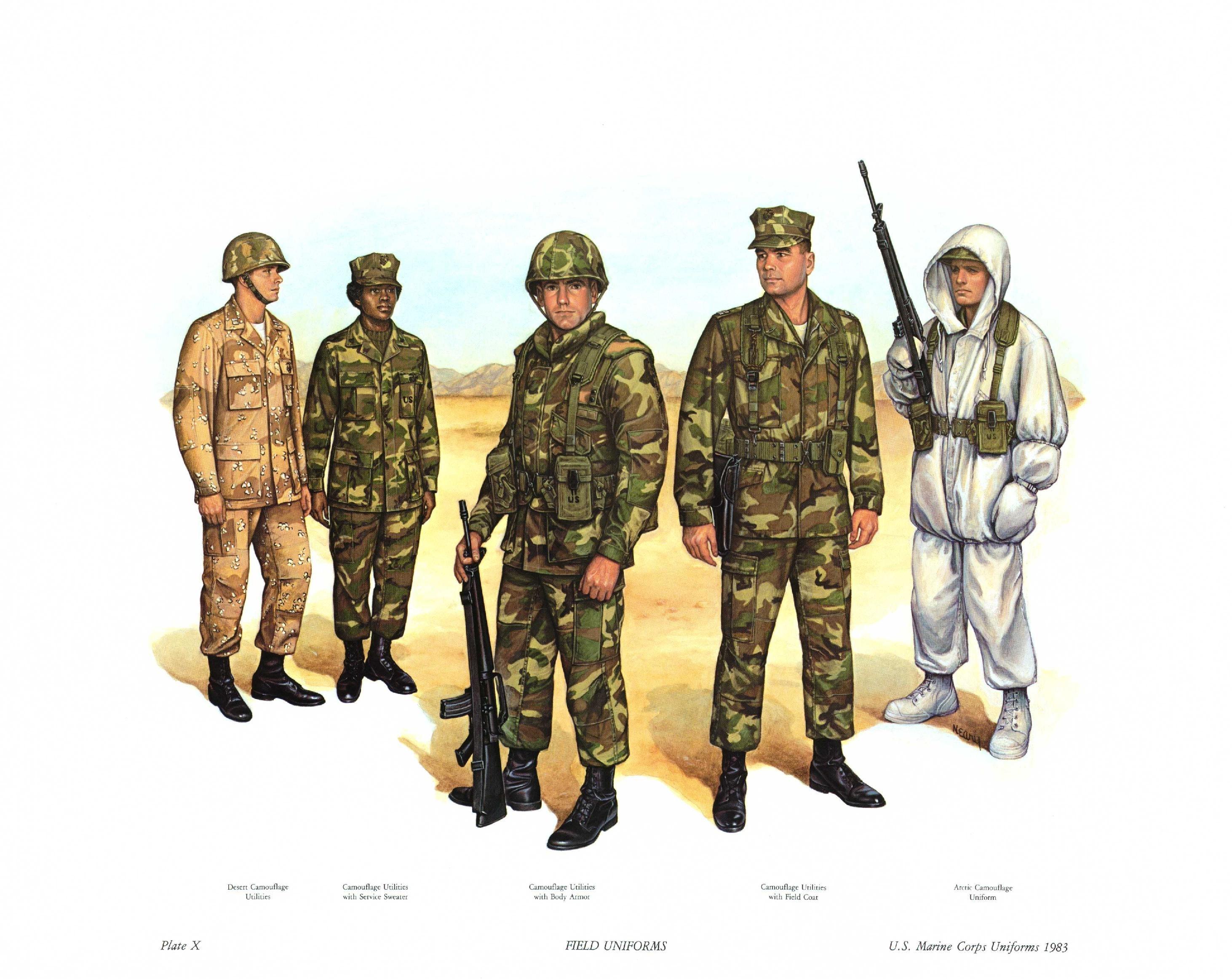 File:Plate X, Field Uniforms.