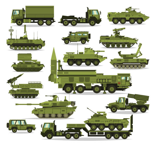 Best Military Vehicle Illustrations, Royalty.