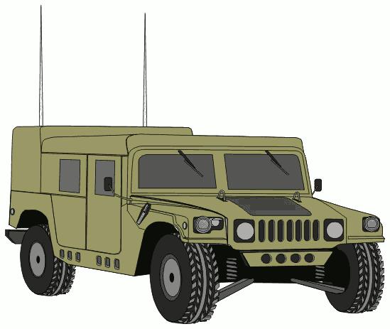 Army Car Clipart.