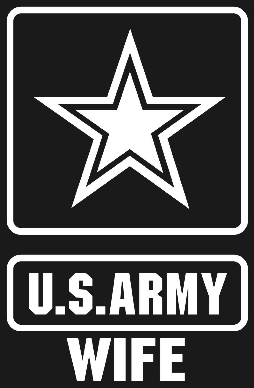 US Army Wife Star Logo Window or Bumper Sticker. 3.3\