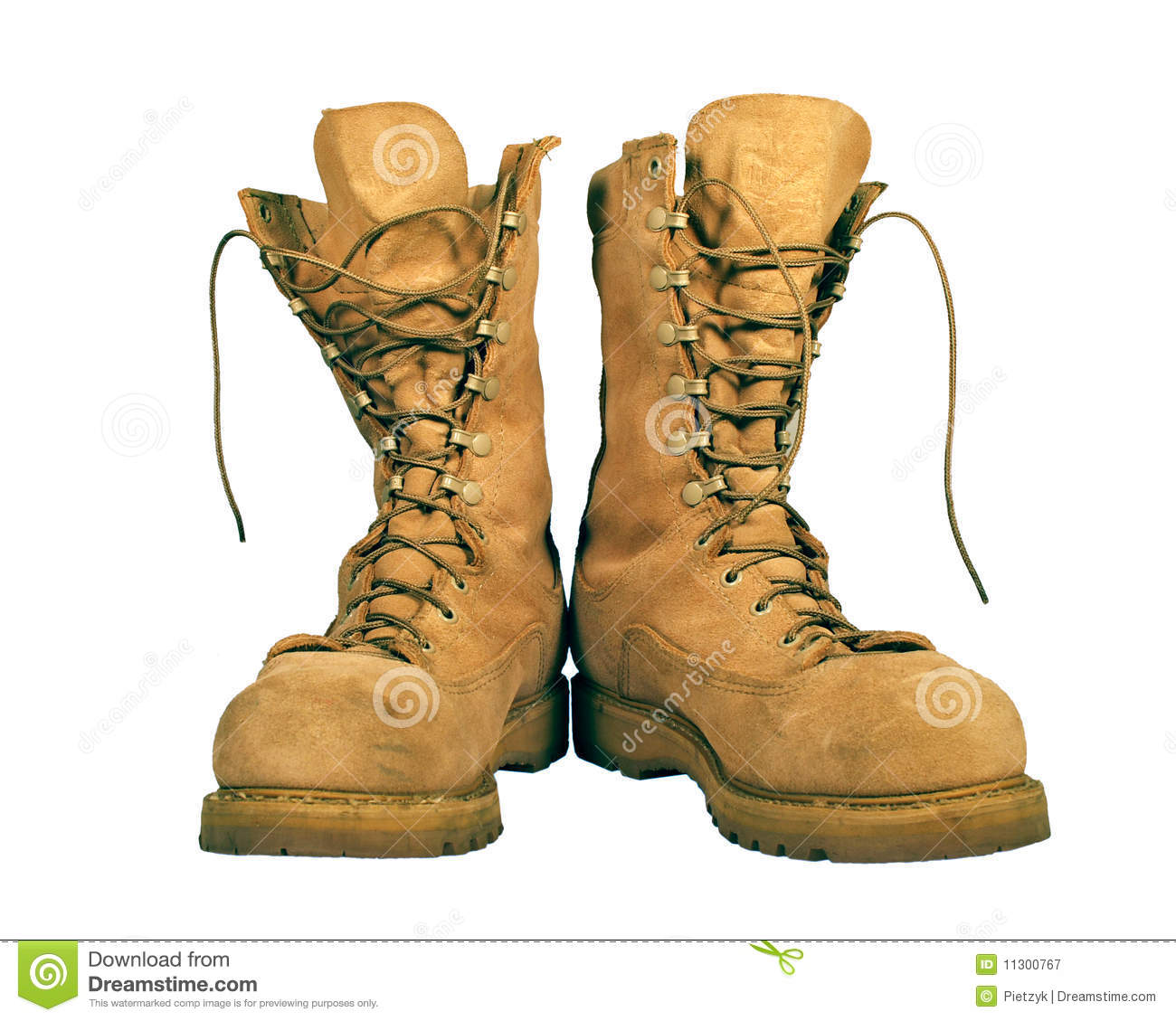 Military Combat Boots Clipart.