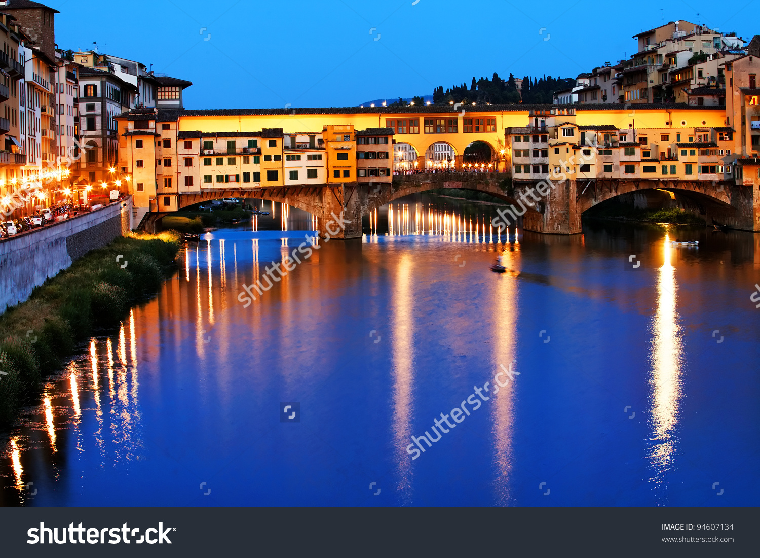 Ponte Vecchio Over Arno River Florence Stock Photo 94607134.