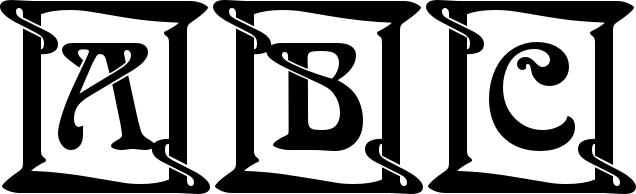 Arnold Böcklin Initials Standard (D) Font.