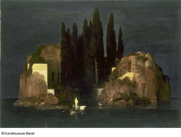 Arnold Böcklin • Die Toteninsel (Erste Fassung), 1880 • Basel.