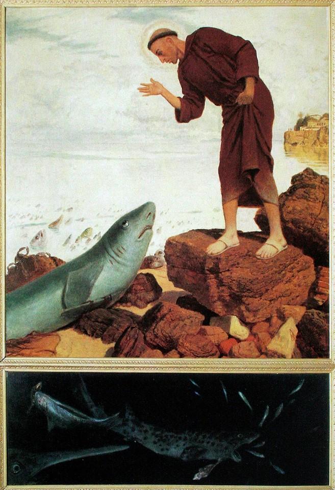 Arnold Böcklin: Der heilige Antonius predigt den Fischen/St.