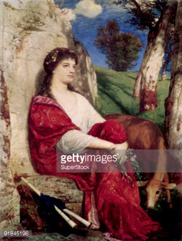 Euterpe Muse Of Music And Lyric Poetry By Arnold Bocklin Fine art.