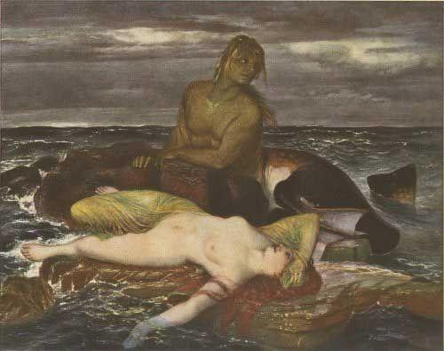 Triton & Nereid, 1875; Arnold Böcklin.