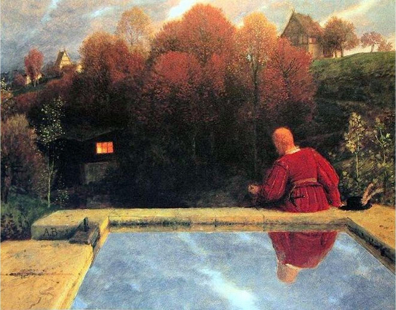 Arnold Böcklin Die Heimkehr in 1887 in the landscape of.
