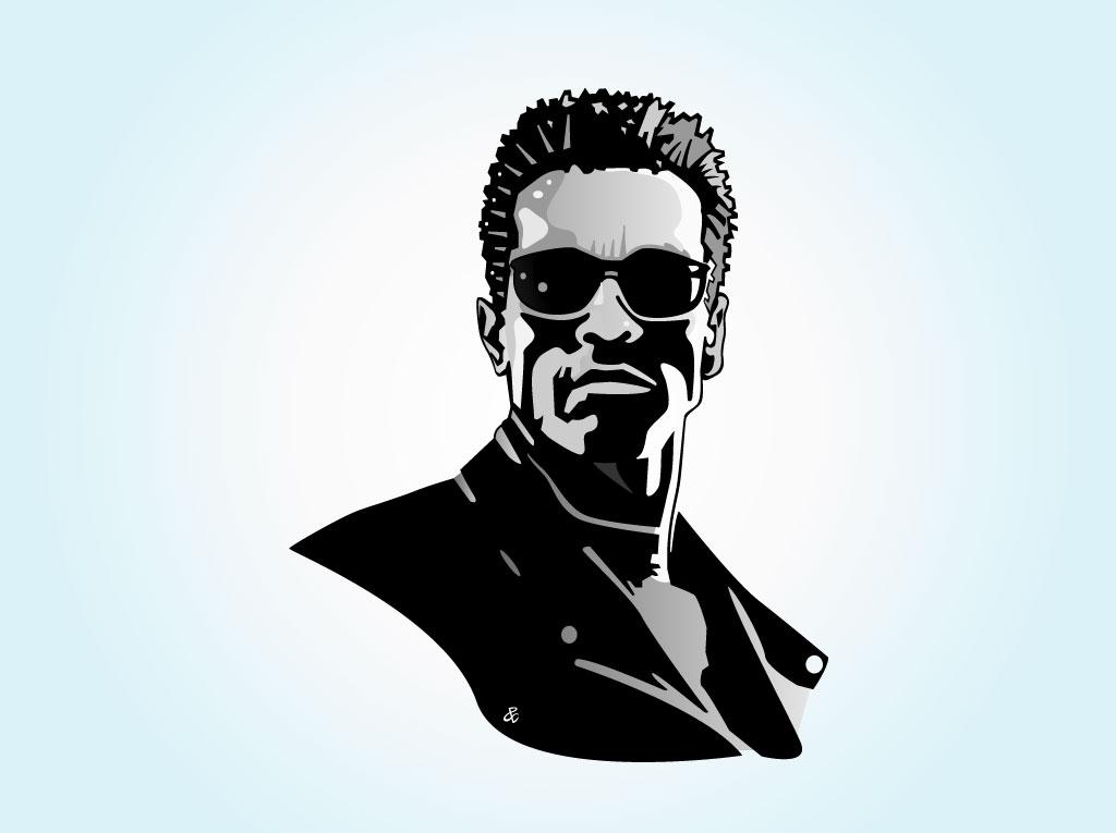Arnold Bodybuilder Clip Art.