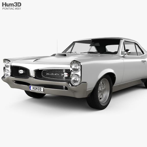 Pontiac GTO 1967 3D model.