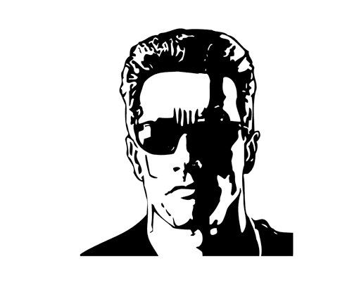 Download silhouette of arnold schwarzenegger clipart Terminator.