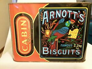 Details about Vintage Arnott's Biscuits Tin Large Cabin Biscuits Made in  Papua New Guinea PNG.