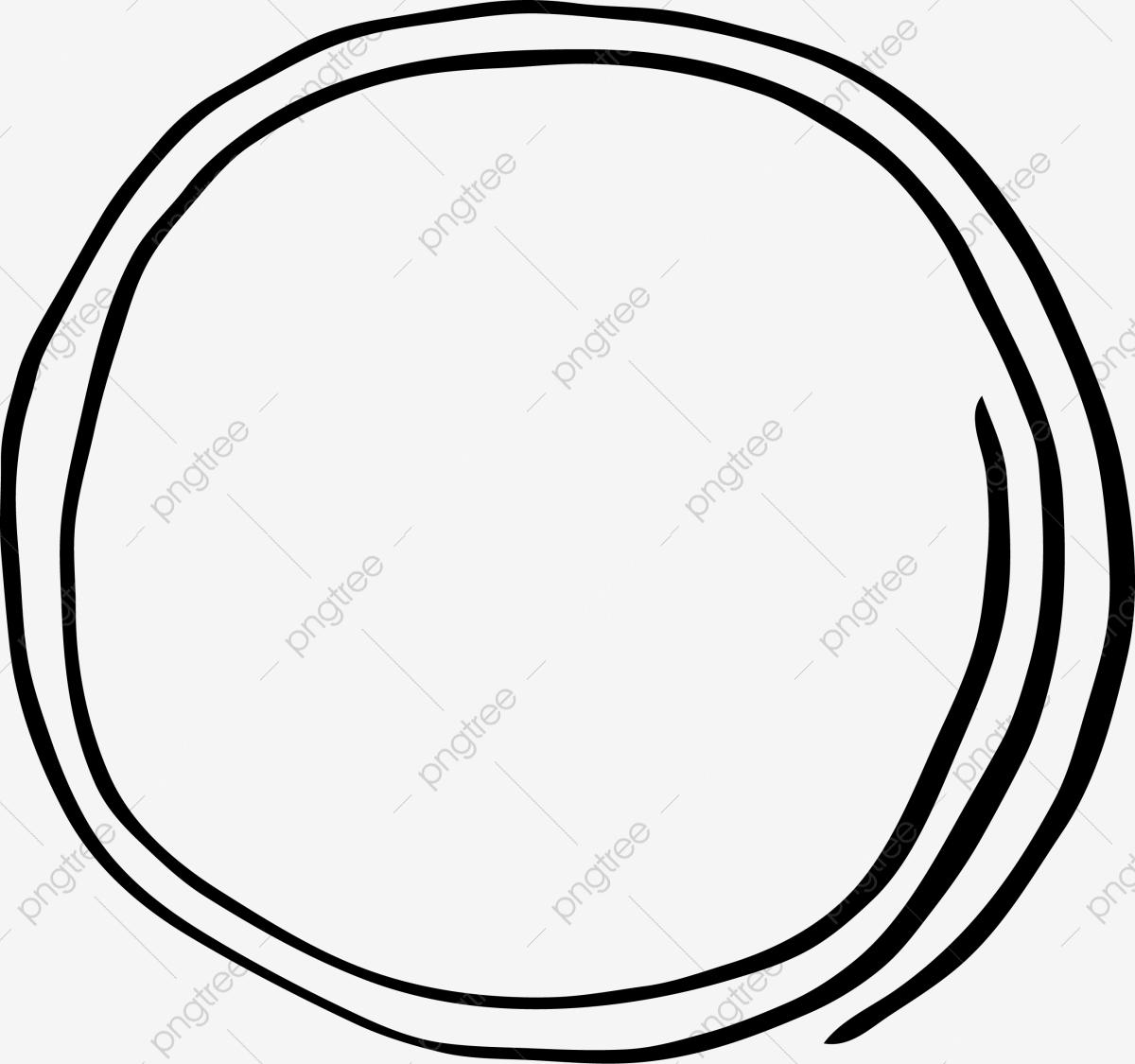 Barra Circular Aro Pintado à Mão, Vector Png, A Linha, A Linha De.