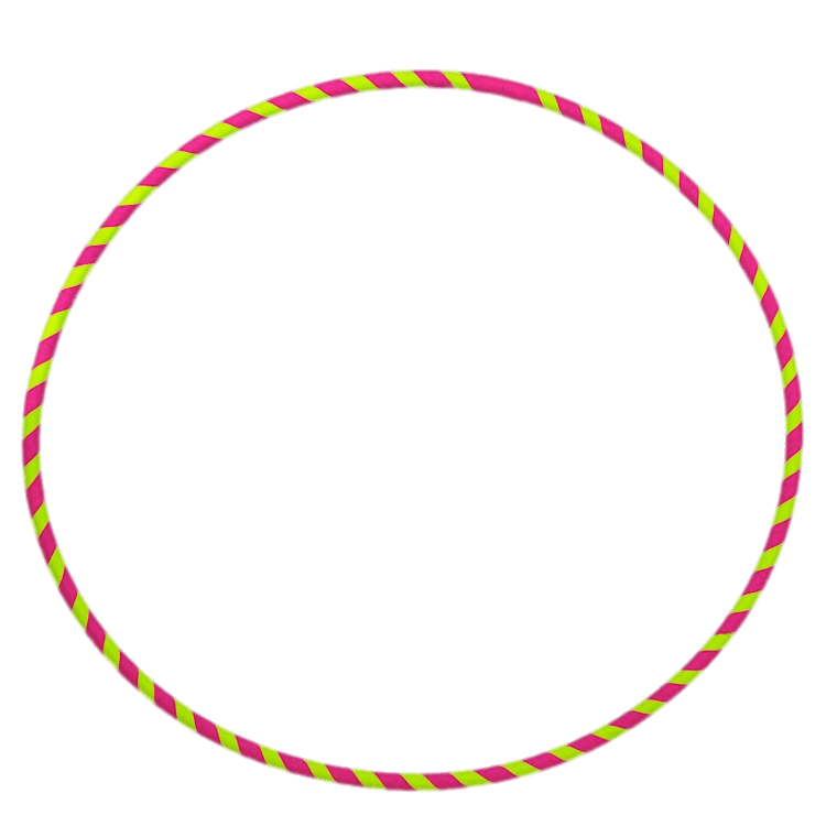 Pink and Yellow Hula Hoop transparent PNG.