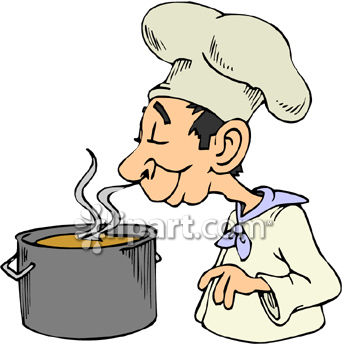 Pot and aroma clipart image.