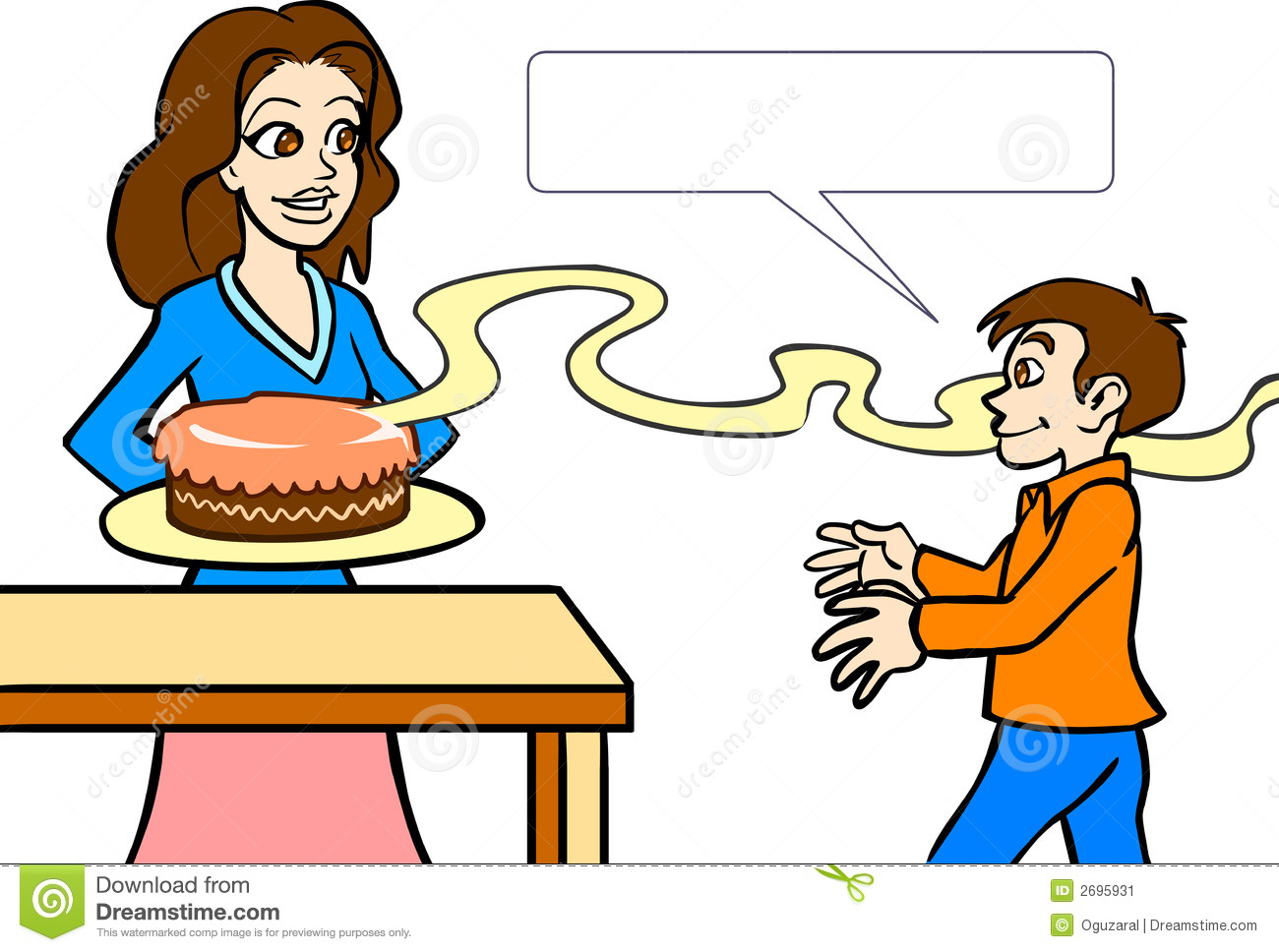 Food aroma clipart.