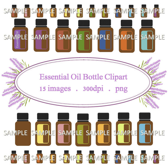 Essential Oil Bottle Clipart Personal and Commercial Use by.