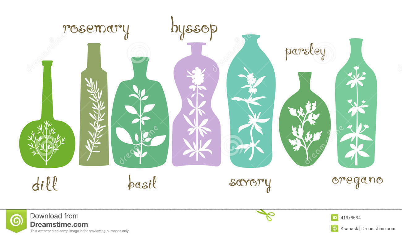 Essential Oil Bottle Clipart.