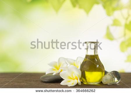 Aroma Oil Massage Frangipani Flower Natural Stock Photo 364666262.