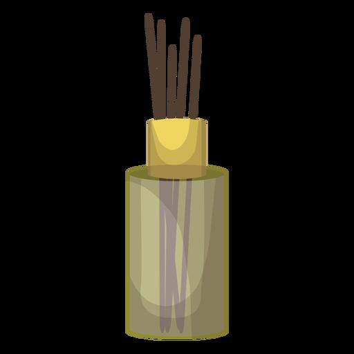 Incense stick bottle aroma illustration.