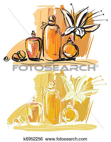 Clip Art of aromatherapy k6952256.