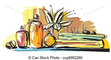 Clip Art Vector of aromatherapy.