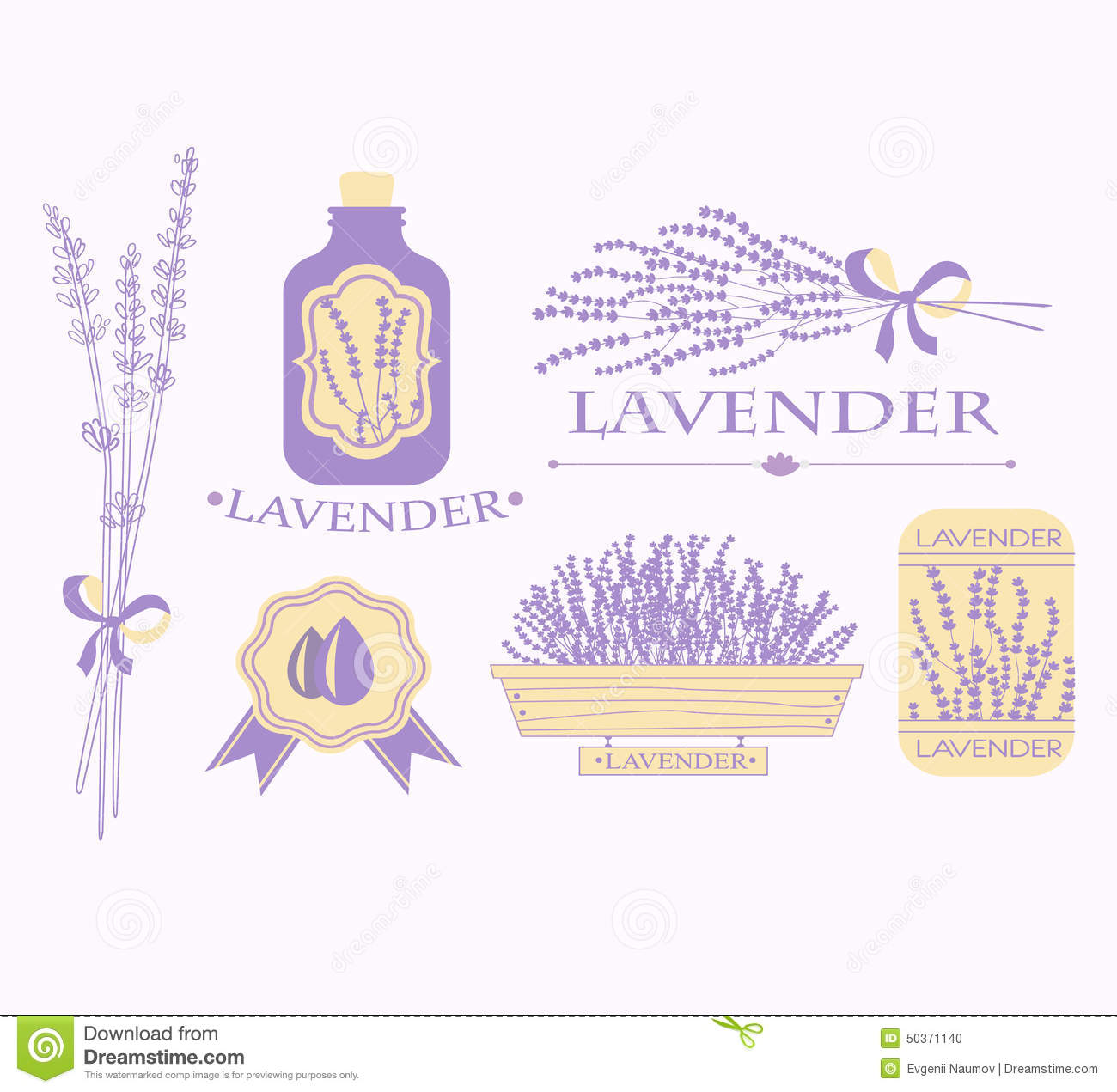 Vintage Lavender Background, Aromatherapy And Spa Stock Vector.