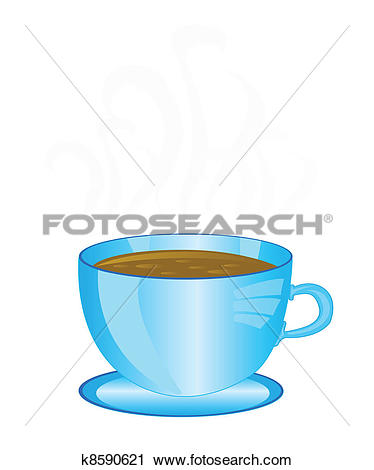 Clipart of Cup aromatic coffee k8590621.