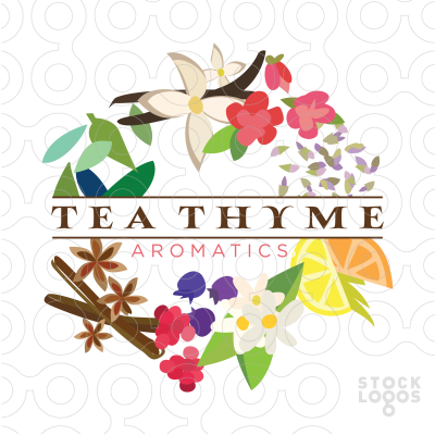 Exclusive Customizable Logo For Sale: Tea Thyme Aromatics.