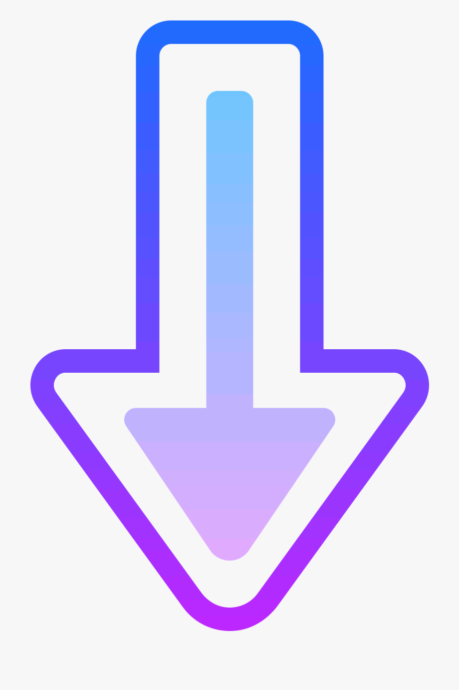 Transparent Arrow Pointing Down Png.
