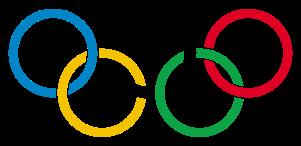 Anéis olímpicos.