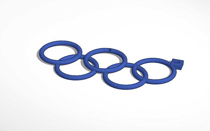 3D design llavero aros olimpicos.