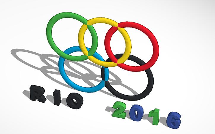 3D design aros olimpicos 2016.