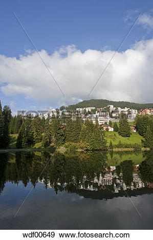 Stock Photograph of Switzerland, Grisons, Untersee, Arosa in.