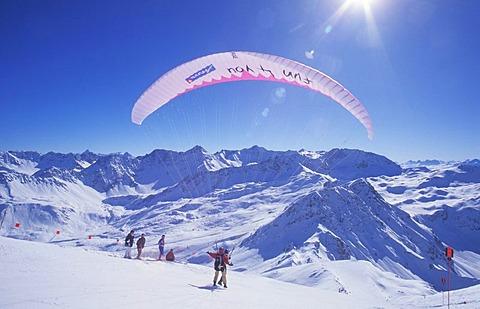 "High Quality Stock Photos of ""paragliding""."