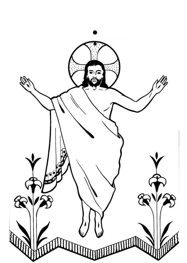 Jesus arose clipart.