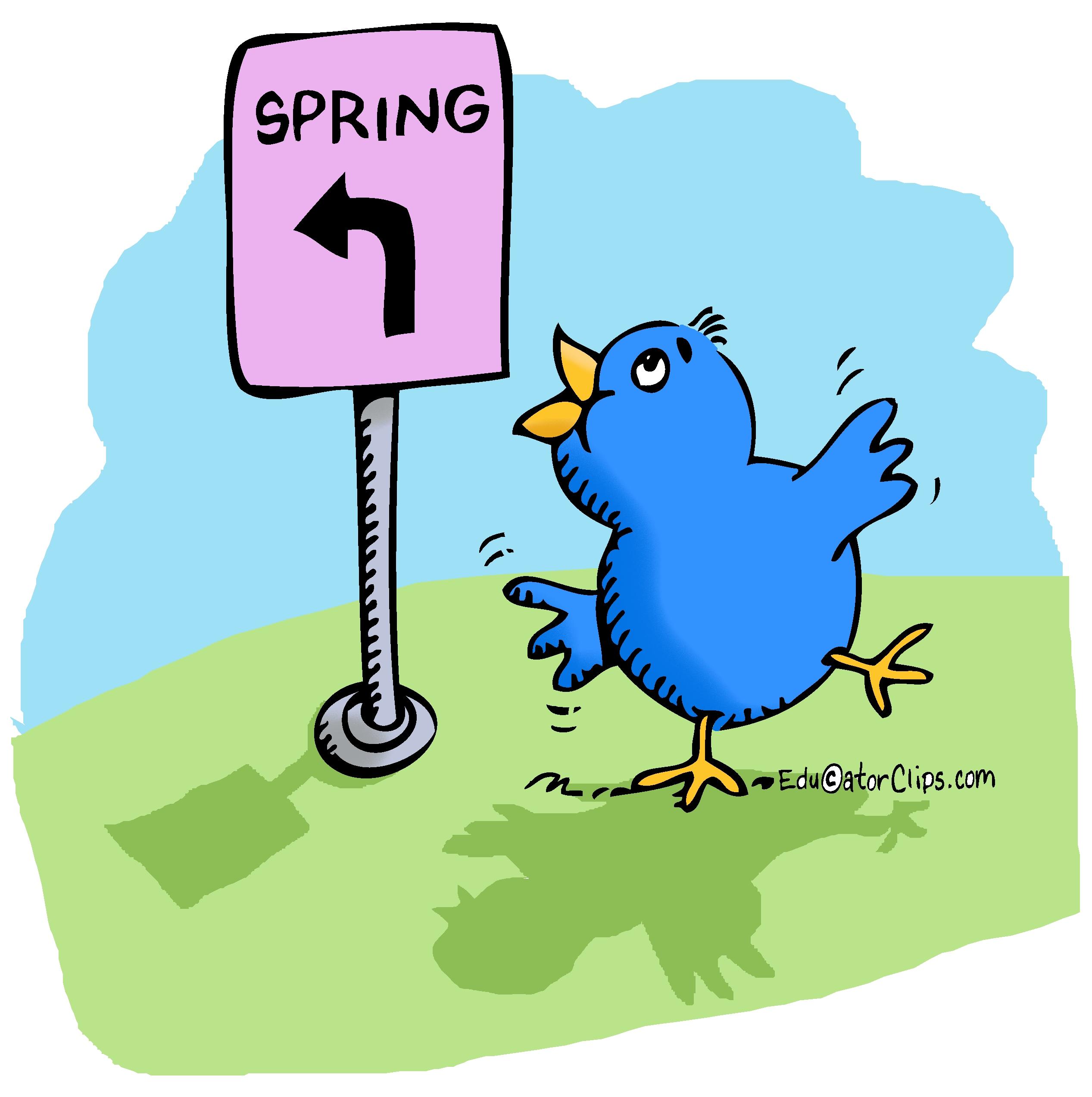 Spring is Around the Corner clip art.