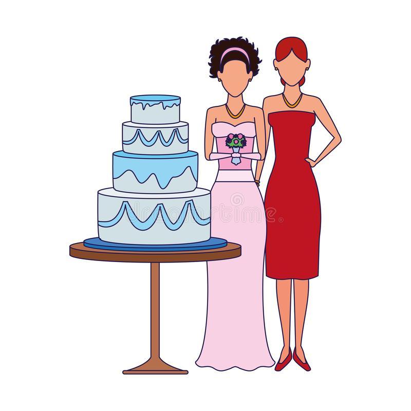 Standing Cake Stock Illustrations.