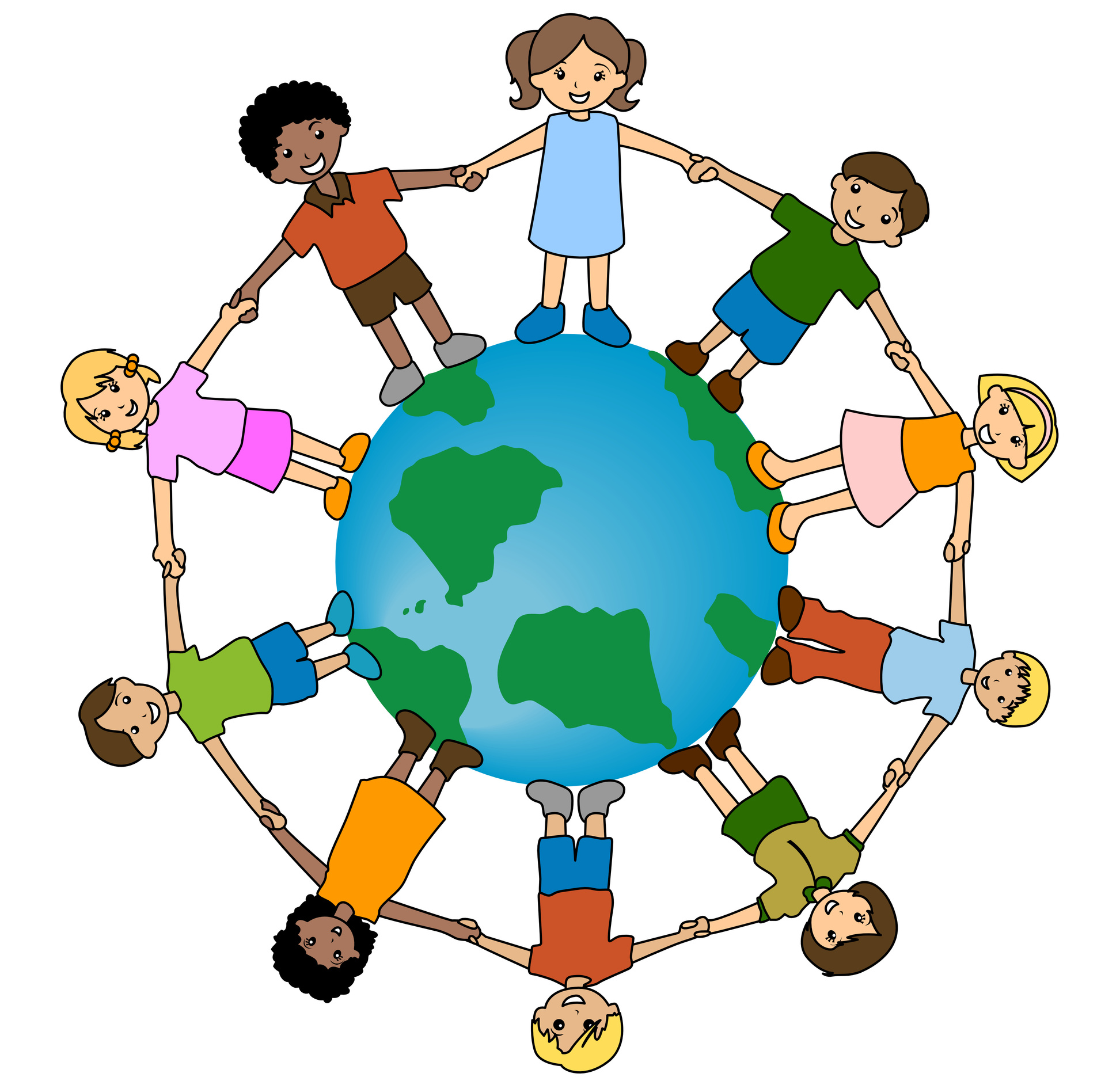 Free kids around the world clip art.