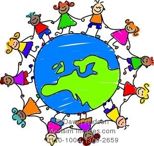 Clip art children around the world.