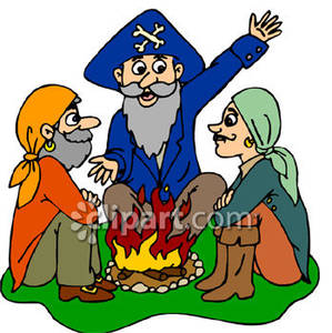 Around The Campfire Clipart.